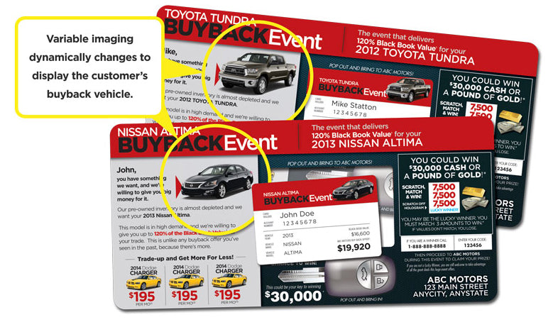 The Original Buyback Event Campaign | Automotive Direct Mail Marketing