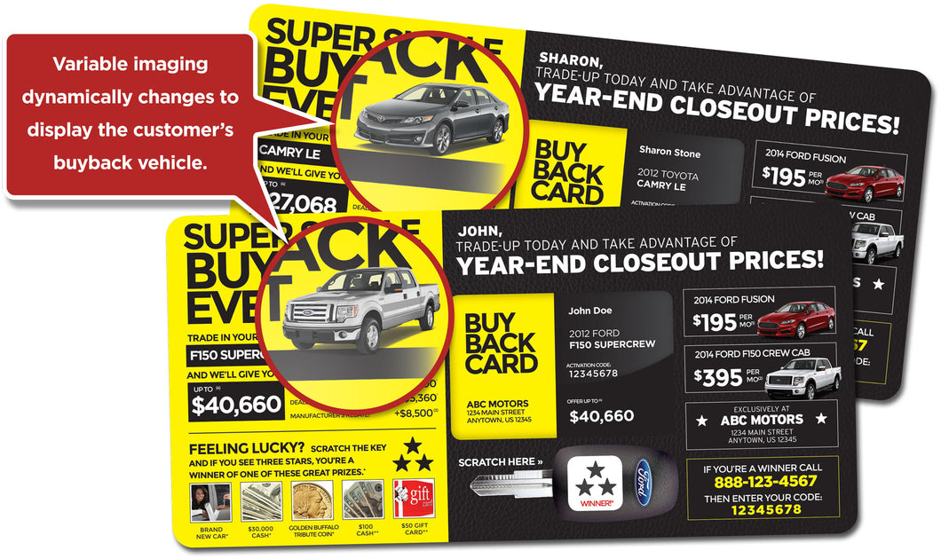 The Super Buyback Event Campaign | Automotive Direct Mail Marketing