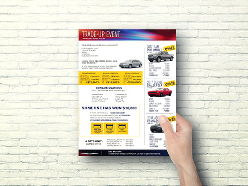 Automotive Direct Mail Marketing Trade Up Event Buy Back Letter