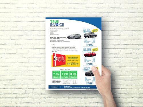 True Invoice Buyback Offer Letter | Automotive Direct Mail Marketing
