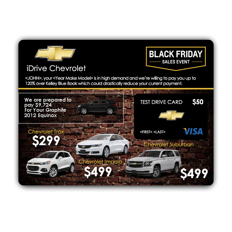Chevrolet Official Black Friday Buyback 2018 | Automotive Direct Mail Marketing