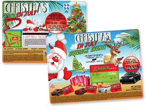 Christmas In July Buyback Campaign | Automotive Direct Mail Marketing