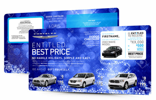 Snowflake Best Price Buyback | Automotive Direct Mail Marketing