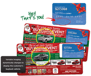 Be Your Own Santa Buyback | Automotive Direct Mail Marketing