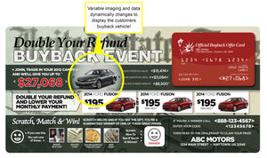 Double Your Refund Tax Season Buyback Campaign | Automotive Direct Mail Marketing