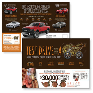 Test Drive For a Turkey Buyback | Automotive Direct Mail Marketing