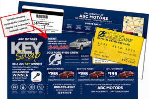 Key Swap Buyback Event Campaign | Automotive Direct Mail Marketing