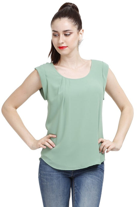 Naked Zebra Soft Green Blouse