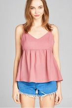 Dusty Pink Peplum Tank