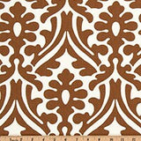 Caramel Brown and Natural Trellis Print Fabric for Custom Made Window Treatments by MonaG Studioitchen Valance, Custom Size, Ready to Hang