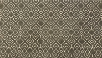 Grey and Natural Trellis Print on Cotton Canvas Fabric