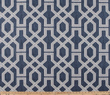 Custom Made Faux Roman Shade Valance in Blue, Grey, Pink, Green Geometric Print on Premium Cotton Linen Fabric, Fully Lined