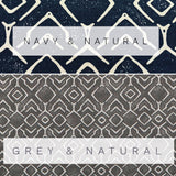 Straight Modern Valance in Navy and Natural or Grey and Natural Trellis Print on Cotton Canvas Fabric. Custom Made Rustic Kitchen Valance