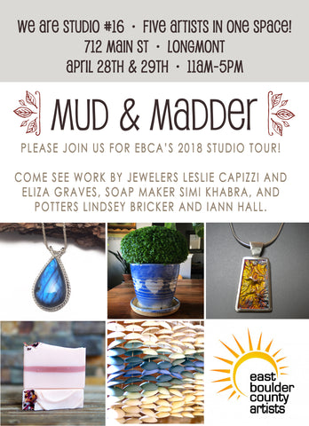 2018 EBCA Studio Tour - Mud & Madder Flyer