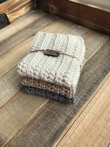 Cotton Dishcloths / Washcloths by Ellalu and BooBoo Too