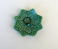 Star Shaped Ring Dish - Emerald Green