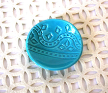 Turquoise Ring Dish - handmade jewelry bowl with aqua glaze