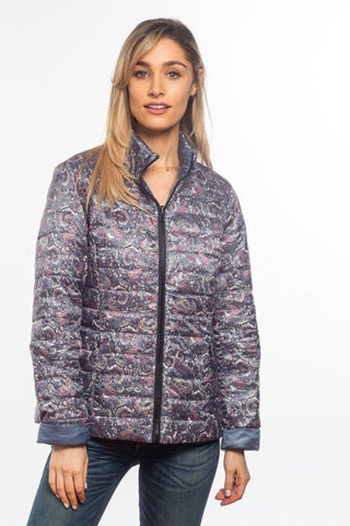 Paisley/Charcoal Reversible Down Jacket