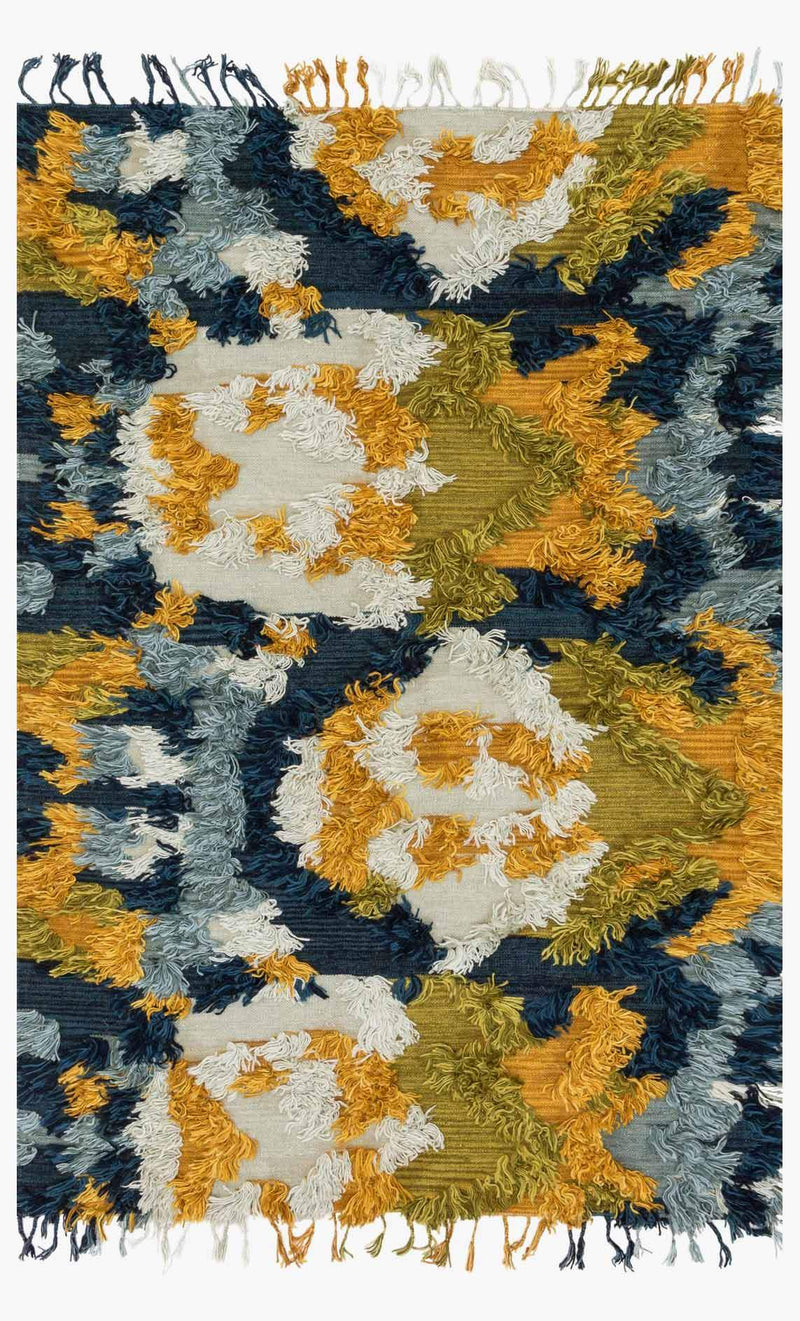 Sheena - 04 Marine / Gold - WORLD OF RUGS