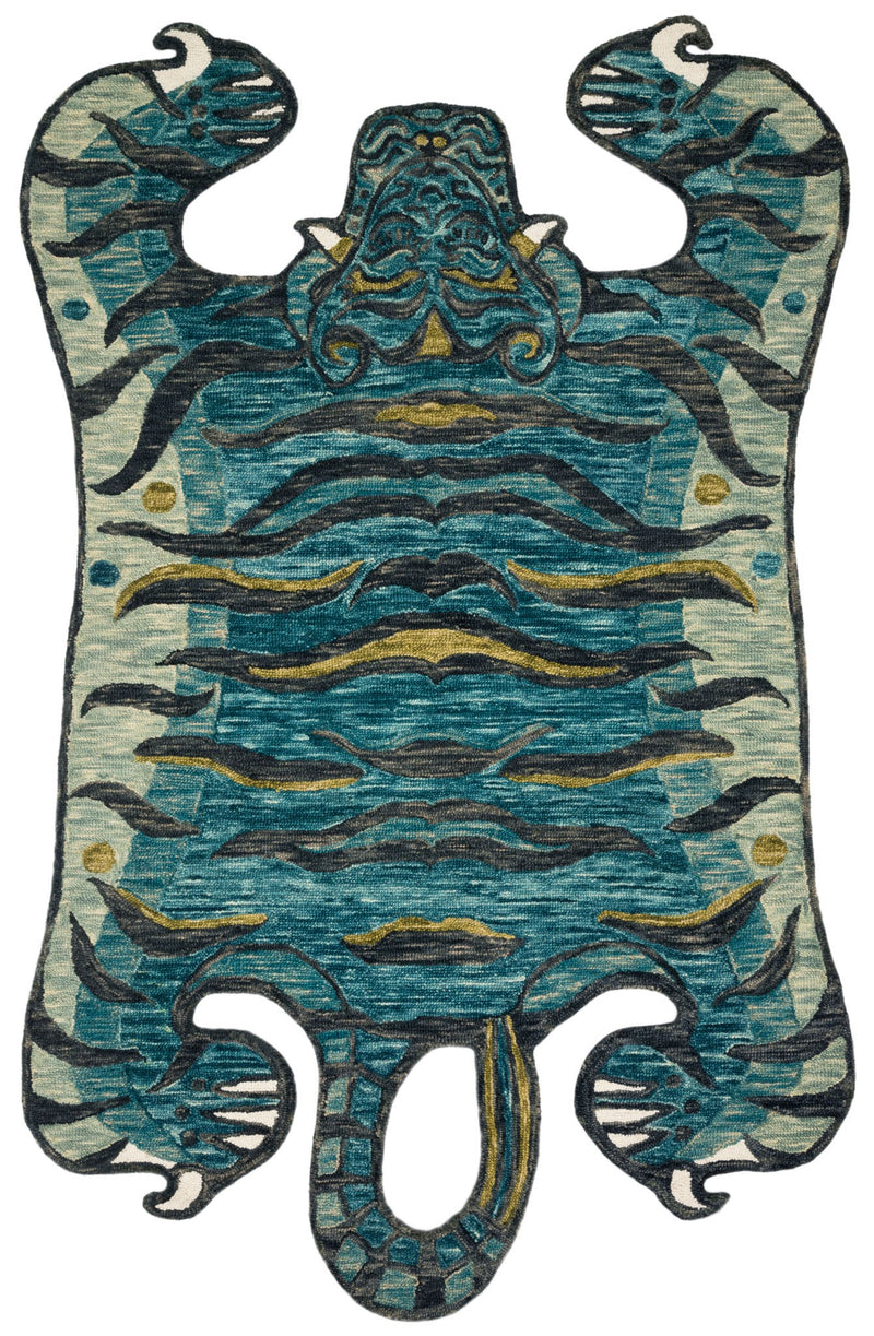 Wild Ones - 03 Teal - WORLD OF RUGS