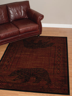 Forest - 04 Bear Red - WORLD OF RUGS