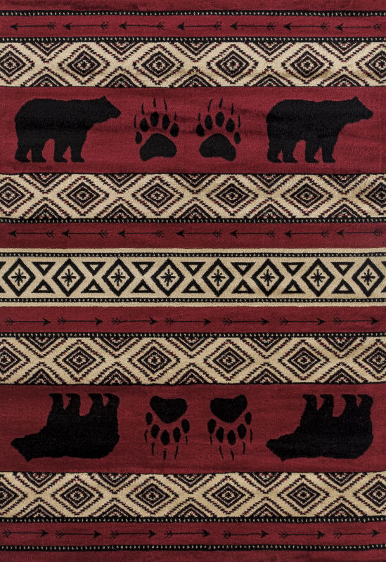 Forest - 14 Bear Red - WORLD OF RUGS