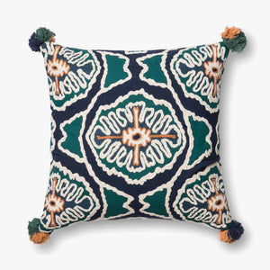 Carly - 0409 Blue / Teal - Pillow - WORLD OF RUGS