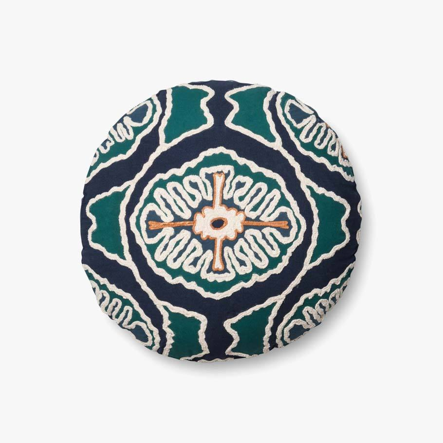 Carly - 0410 Blue / Teal - Pillow - WORLD OF RUGS