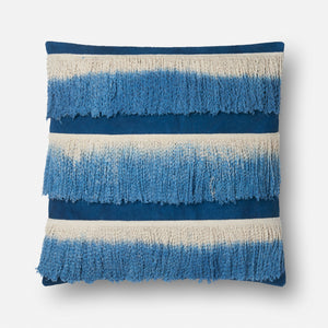 Carly - 0593 Blue / Ivory - Pillow - WORLD OF RUGS