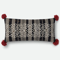 Arroyo - P0562 Black - Pillow - WORLD OF RUGS