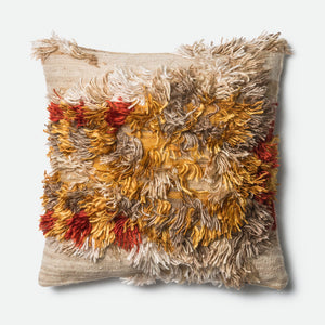 Carly - 0413 Camel / Sunset - Pillow - WORLD OF RUGS