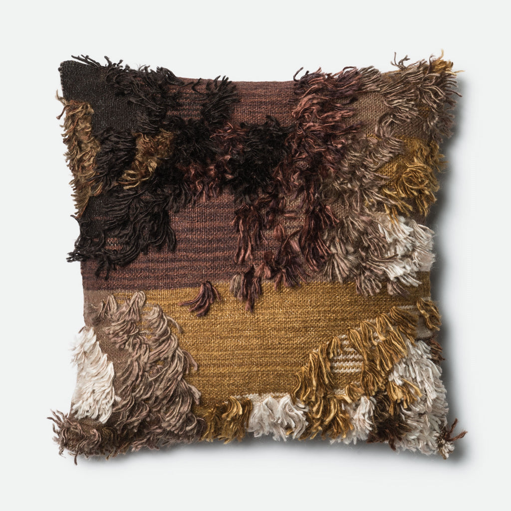 Carly - 0415 Walnut - Pillow - WORLD OF RUGS