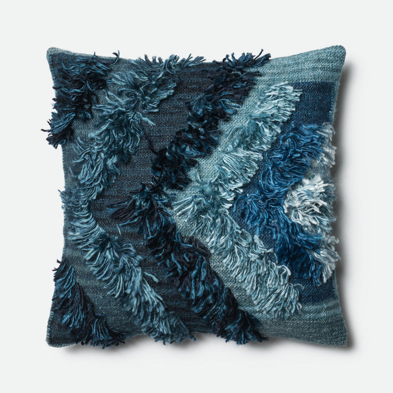Carly - 0416 Indigo - Pillow - WORLD OF RUGS