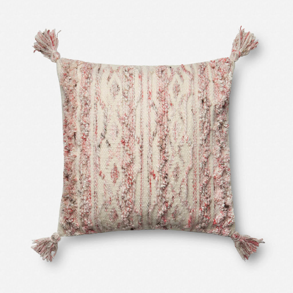 Arroyo - P0643 Pink / Ivory - Pillow - WORLD OF RUGS