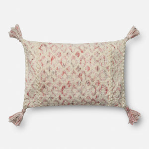 Arroyo - P0644 Pink / Ivory - Pillow - WORLD OF RUGS