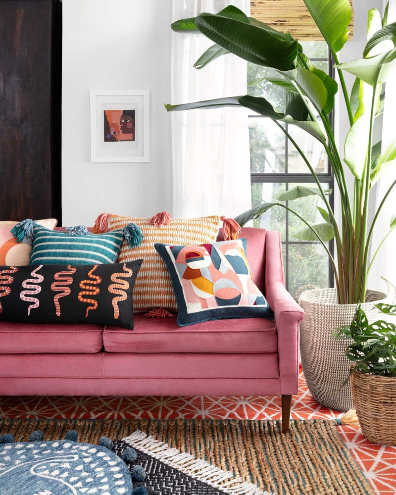 Cortez - P0837 Pink / Orange - WORLD OF RUGS