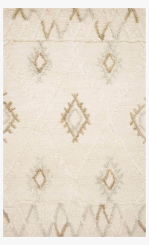 Nikka - 01 Ivory / Slate - WORLD OF RUGS