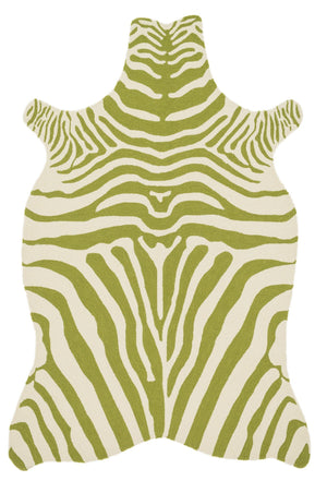 Wild Ones - 34 Green / Ivory - WORLD OF RUGS