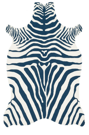 Wild Ones - 36 Navy / White - WORLD OF RUGS