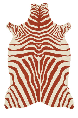 Wild Ones - 37 Red / Ivory - WORLD OF RUGS