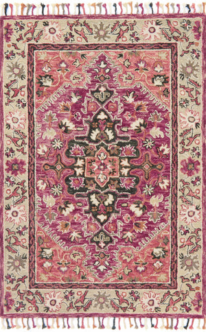 Daydream - 05 Raspberry / Taupe - WORLD OF RUGS