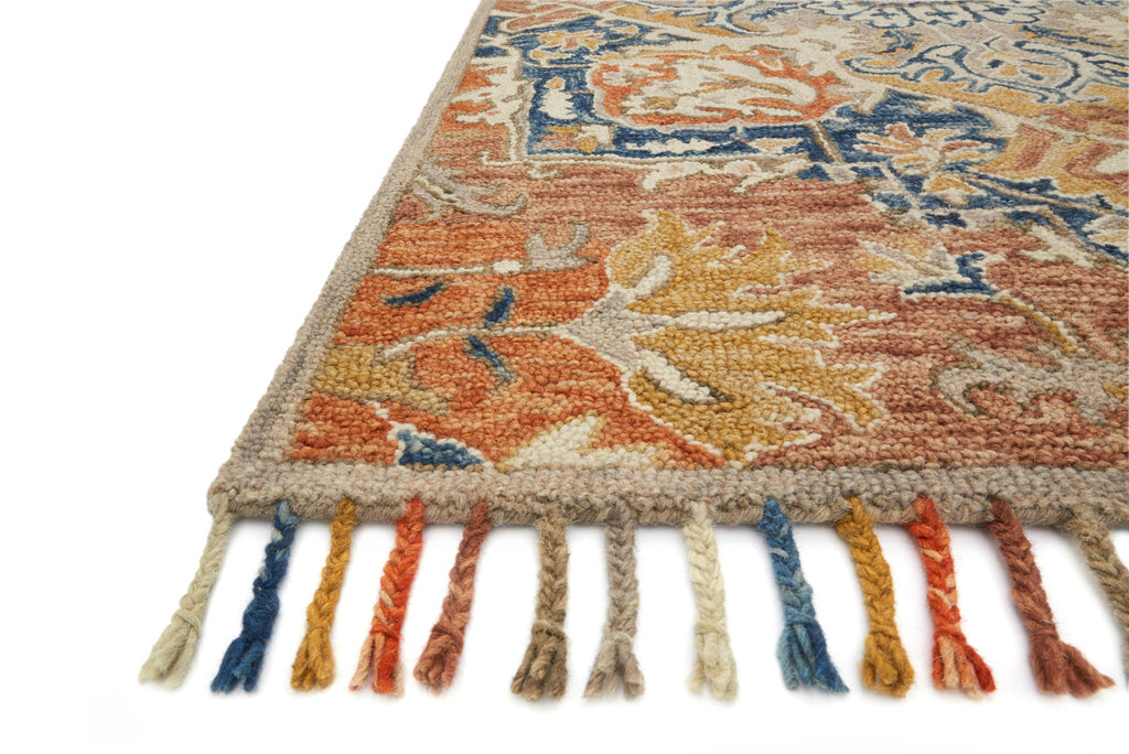 Daydream - 10 Rust / Blue - WORLD OF RUGS