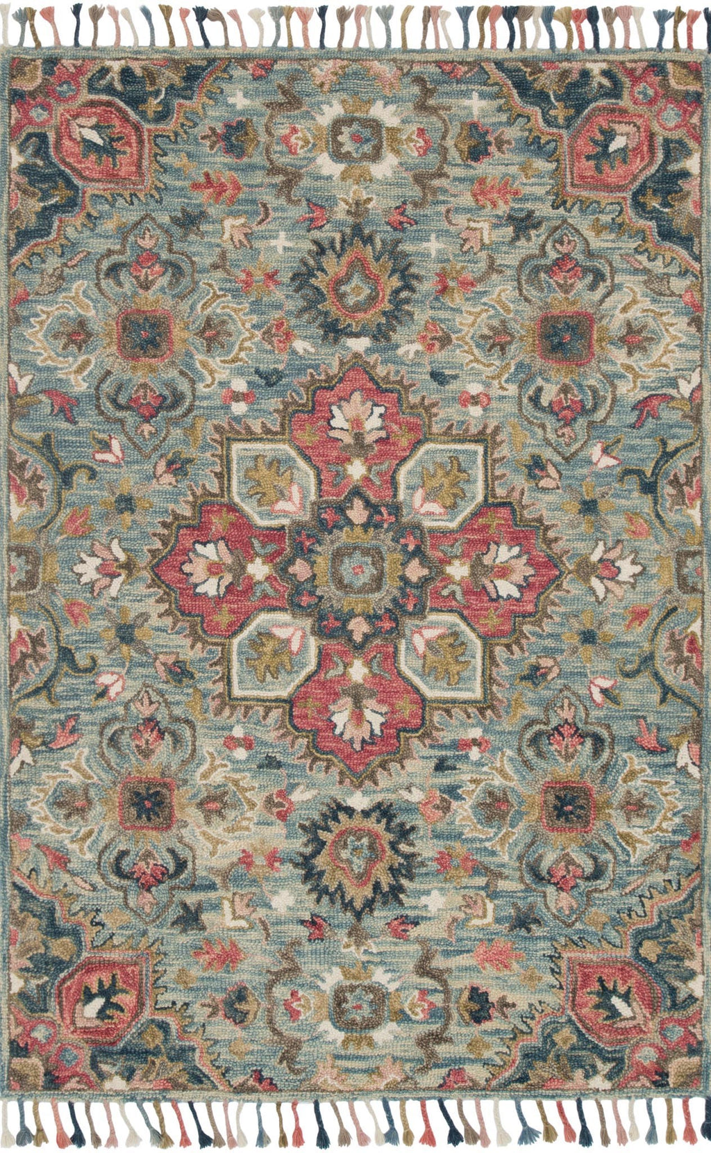 Daydream - 13 Light Blue / Multi - WORLD OF RUGS