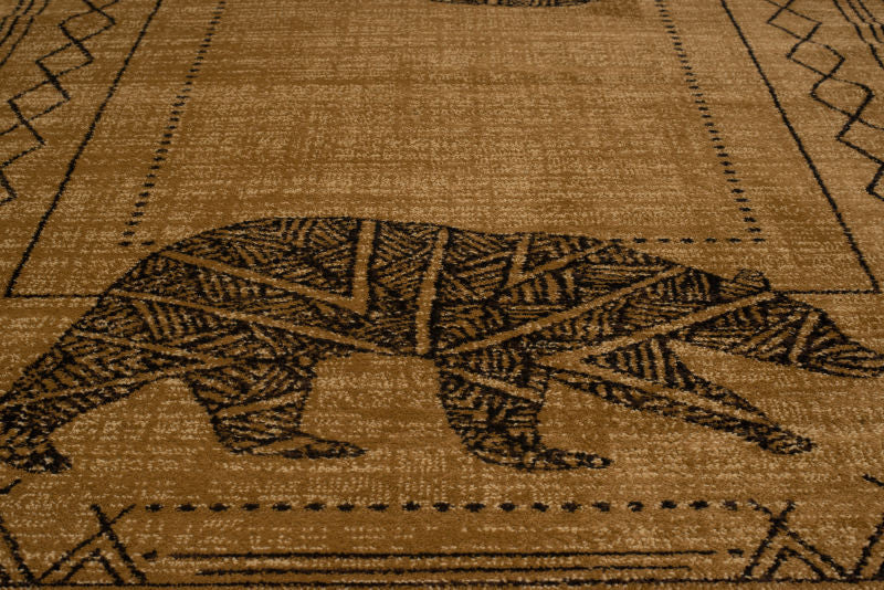 Forest - 03 Bear Gold - WORLD OF RUGS