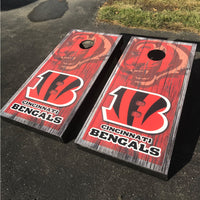 2 (TWO) Custom Made Cornhole Decals | Wraps | Cincinnati Bengals - 3