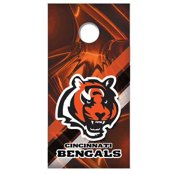 2 (TWO) Custom Made Cornhole Decals | Wraps | Cincinnati Bengals - 5