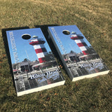 Custom Designed Cornhole Decal Set - Your Favorite Vacation Photo!