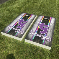 Custom Designed Cornhole Decal Set - Your Company Logo!