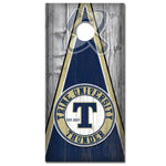Custom Designed Collegiate Cornhole Decals | Trine University Thunder