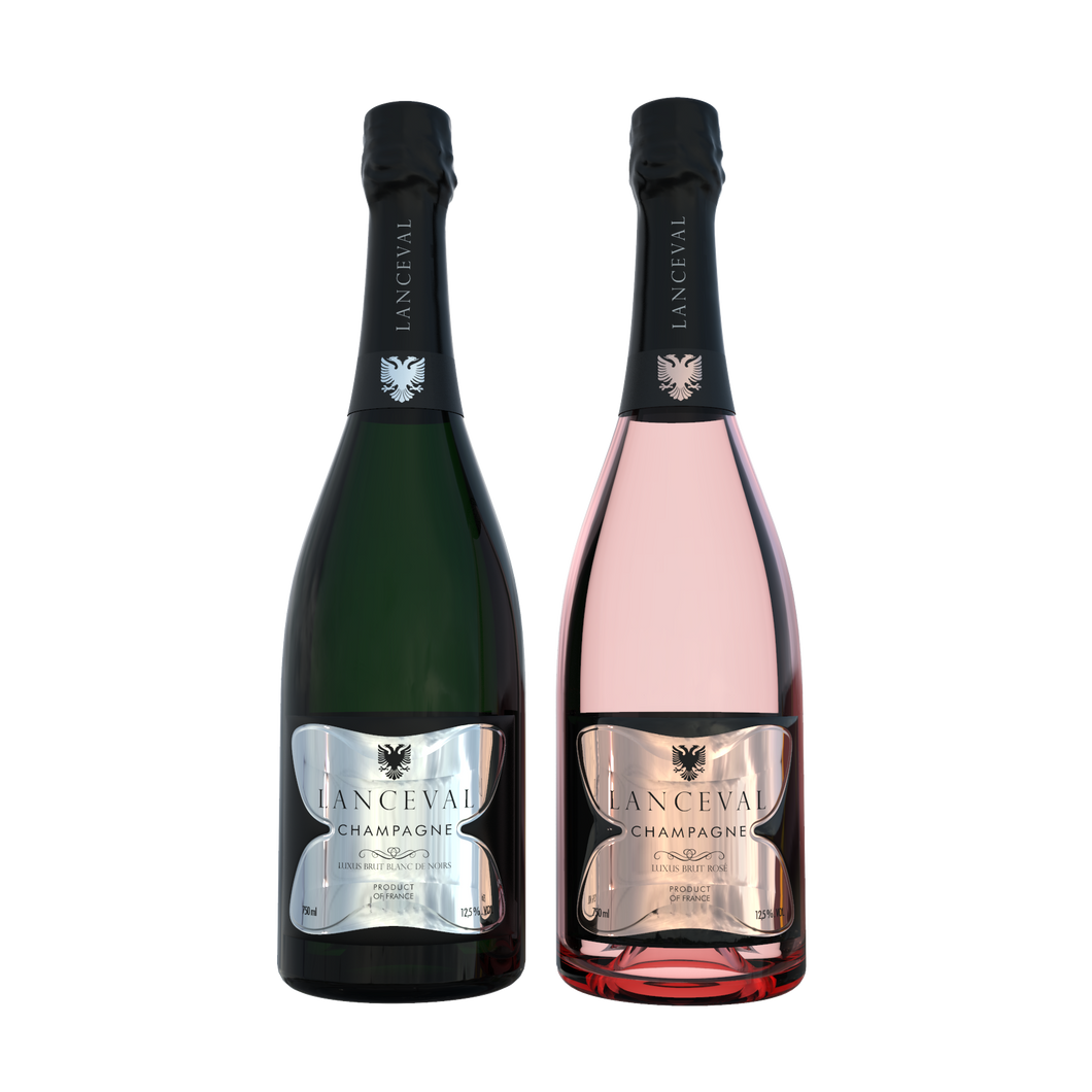 Lanceval World - 1X Luxus Brut Blanc de Noirs - 1X Luxus Brut Rosé - in Coffret